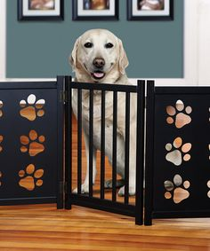 Take a look at this Paw Print Wooden Gate by Etna Products on #zulily today!