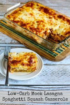 Low-Carb Mock Lasagna Spaghetti Squash Casserole [KalynsKitchen.com]