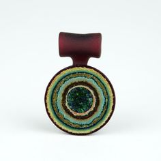 Heady Hunter Borosilicate Glass Art Gallery   Noah Rockland Hollowed-Core Geode Pendant (2 of 2)