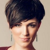 short asymmetrical haircut