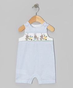 Take a look at this Blue Stripe Bunny John Johns - Infant & Toddler on zulily today!