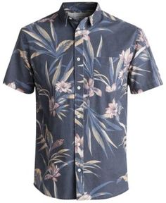 2072066b Quiksilver Men's Longa Locka Floral Pocket Shirt & Reviews - Casual  Button-Down Shirts - Men - Macy's