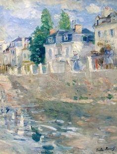 Berthe Morisot, Les quais à Bougival, 1883