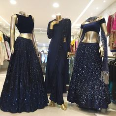 Unleash your inner sparkle with the new collection now available at Neeta Lulla Flagship  Store, Mumbai. @neeta_lulla #indianfusionwear #blackandnavy #contemporary #indianattire #weddingseason #india #indianfashion