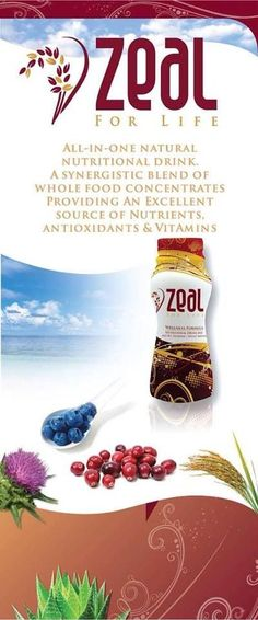 Zeal Wellness synergistic blend of whole food concentrates and drink at least one serving a day to get all the nutrients, antioxidants and vitamins your body needs. Join Team Zeal! Changing your lifestyle and making health a priority! TarakayZEAL@yahoo.com or www.tarakay.zealforlife.com