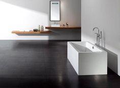 Badekar - Quadro 170 - fritstående designbadekar. http://www.spacenteret.dk/product/quadro-170-fritstaaende-designbadekar-212/
