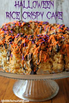 Halloween Rice Crispy Cake.Perfect for Halloween and soo easy to make!!