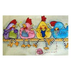 Embroidery & Cross Stitch Chicken Full Diamond Painting Embroidery Diy Needlework Home Decor Gifts Art & Garden Tricot D'art, Art Fantaisiste, Wal Art, Knitting Humor, Knitting Quotes, Knitting Club, Knitting Projects, Knit Art, Chicken Art