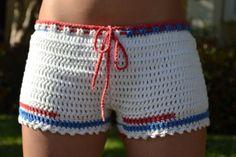 Crochet Shorts Women Boy Shorts Handmade by GabysSchaufenster
