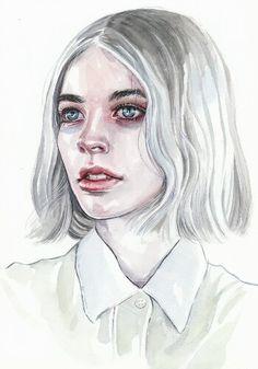 Watercolor portrait by Tomas-Mro (Deviant Art)
