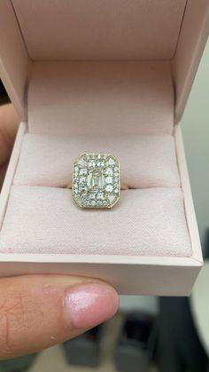 Emerald cut diamond engagement ring Emerald Cut Diamond Engagement Ring, Emerald Cut Diamonds, Lab Diamonds, Halo Diamond Engagement Ring, Princess Cut Diamonds, Diamond Rings, Diamond Cuts, Vintage Inspired Engagement Rings, Art Deco Diamond