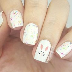 Adorable Easter Nail Art Designs You Must Try Easter nails; Egg And Bunny Nail Art Designs; Easter Nail Designs, Easter Nail Art, Cute Nail Designs, Nail Trends 2018, Bunny Nails, American Nails, Boxing Day, Cute Nail Art, Halloween Nail Art
