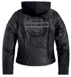 Harley-Davidson® | 98030-12VW | Harley-Davidson® Womens Miss Enthusiast 3-In-1 Black Leather Jacket