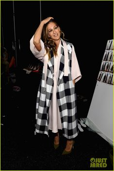 katie holmes likes to wear mens clothes 12 Katie Holmes is all smiles while posing backstage at the Desigual Fashion Show held during Mercedes-Benz Fashion Week Fall 2015 at The Theatre at Lincoln Center…