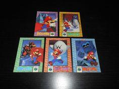 Super Mario Nintendo 64 Cereal Trading cards Complete Set! #N64 #SuperMario64 #SuperMario #Nintendo #Cards #card