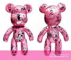 nokhook pink popobe bear by nokhookdesign, via Flickr