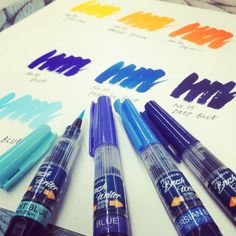 Brush Writer BLUE colors