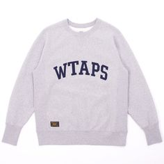 Wtaps Design Crewneck Sweatshirt 02 - Highly essential Design Crewneck Sweatshirt 02 from WTAPS.  The premium cotton sweatshirt features that iconic branding, plus stitched WTAPS text across the chest.