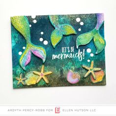 Ellen Hutson, LLC features Essentials By Ellen Clear Stamps, Inner Mermaid By Julie Ebersole. Easter Arts And Crafts, Arts And Crafts For Adults, Crafts For Teens To Make, Arts And Crafts House, Adult Crafts, Spring Crafts, Crafts To Sell, Diy Crafts, Card Making Supplies