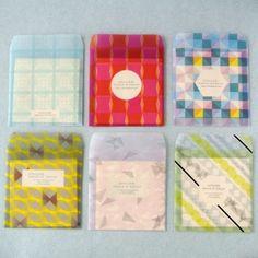 Transparent envelope and card set by Atelier Encle D'encle