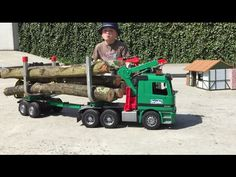 BRUDER TRUCKS Mercedes Actros Langholztransporter in Jack's bworld Forst - YouTube