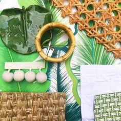 The evolution of a scheme 🌴 Turquoise Nursery, Palm Beach Regency, Elsie De Wolfe, Pattern And Decoration, Tropical Decor, Chinoiserie, Pantone, Evolution, Interior Decorating
