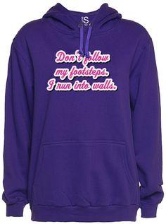 "Unisex ""Don't Follow Me"" Hoodie by Glitz Apparel (Purple) #inked #tattoo #purple #hoodie #inkedshop"