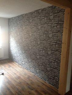 Backstein Tapete   Klinkertapete Hellgelb   Vliestapete Premium Quadrat |  Stein Tapete: Naturstein, Beton, Backstein, Schiefer | Pinterest | Wand
