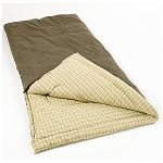 """Coleman Big Game Big and Tall Sleeping Bag - super king sized sleeping bag: 40"""" x 85"""", fits most sleepers up to 6'5"""". Comfortable down to 0 degrees. 100% cotton."""