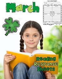 This set of March themed Reading Response sheets will help your students keep track of the books they are reading. The best part is that you can use it with any set of books! The clipart is themed but the questions are not! Increase accountability with these Reading Response Sheets!