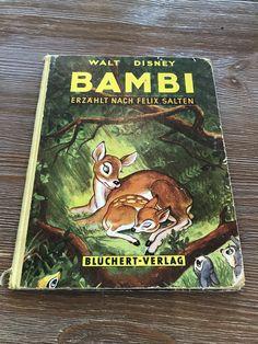 Walt Disney Bambi (German Book 1950) by BourgettesBookshelf on Etsy