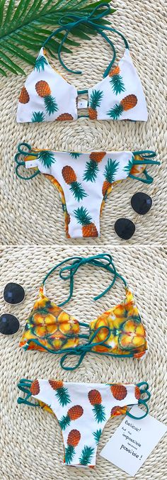 We love pineapple print,destroying some hearts in this stunner.  — — Search more at chicnico.com