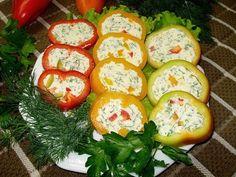 Холодные закуски из фаршированного перца / Простые рецепты