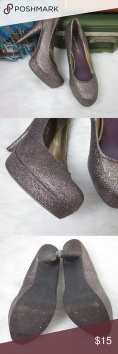 LAST CHANCE SALE Glitter Heels Madden Girl 8 See listing at top of closet for SALE details   Gently worn - EUC. Manmade Materials.  Bundle for best deals! Hundreds of items available for discounted bundles! You can get lots of items for a low price and one shipping fee!  Follow on IG: @the.junk.drawer Madden Girl Shoes Heels