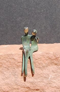 The two of us miniature sculpture romantic by YennyCocq on Etsy, $90.00