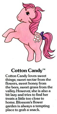 My Little Pony Cotton Candy fact file ...