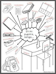 Spanish Classroom Vocabulary Picture Search
