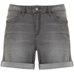 Mint Velvet Distressed Grey Denim Short ($85) ❤ liked on Polyvore featuring shorts, grey, women, torn shorts, gray shorts, denim shorts, distressed shorts and cotton shorts