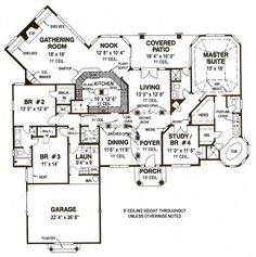 First Floor Plan of House Plan 53513