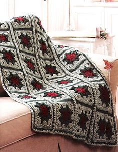 Ravelry: Christmas Granny pattern by Kim Guzman. Published in Leisure Arts: Grannies Gone Wild.