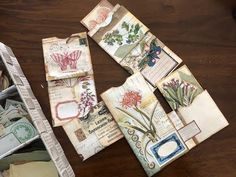 video demo from Wendy's Journal Adenture: Quick & Easy Collage Envelopes . lots of pockets to add notes or ephemera . Handmade Journals, Handmade Books, Handmade Crafts, Handmade Rugs, Mini Albums, Simple Collage, Bookbinding Tutorial, Junk Journal, Journal Ideas