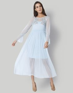 a3b7c7ba7512 Weekend Feel- Whimsical Dressing  Get it right with this adorable light  blue whimsy midi