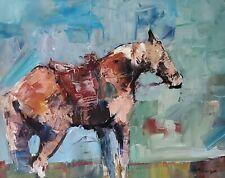 "Art Print//Painting Mexico Wood Framed Portrait Wild Horses Caballos 36/""X24/"" Huge"
