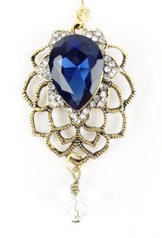 Antique Sapphire Hijab Pin