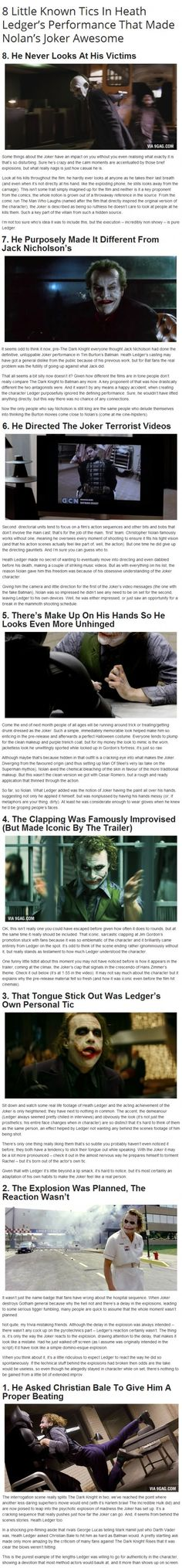 If you ask me, Heath Ledger made the Joker character untouchable for the next generation. Seriously. He was incredible.