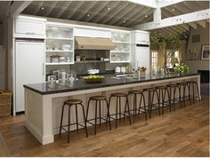 Now that is a long kitchen island.. What I need for my hundreds of kids lol