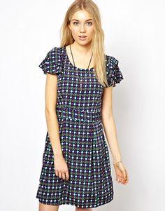 Image 1 ofVero Moda Emmas Dots Skater Dress