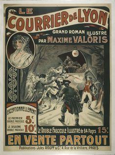 L'#enquête connue sous le nom de l'affaire du courrier de Lyon a fait couler beaucoup d'encre sans parvenir à élucider toutes les zones d'ombres. Sur le trajet #Paris-#Lyon, le mercredi 27 avril 1796, la malle-poste, une hippomobile destinée au transport du courrier est attaquée. Cocher et postillon sont assassinés et la solde de l'armée de Napoléon, est volée. Maxime Valoris, à la fin du 19e s, fait le récit de cette histoire dont l'#affiche promotionnelle du #roman illustre l'attaque… Vintage Travel, Vintage Ads, Lyon, Crime, Roman, Paris, Ephemera, 27 Avril, Advertising