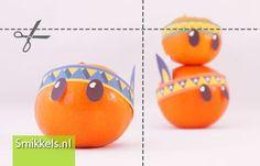 Traktatie mandarijn Indiaan | met gratis print voorbeeld | Healthy treat with free printable | Smikkels.nl