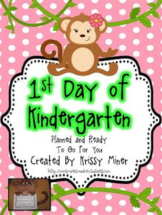 Mrs. Miner's Kindergarten Monkey Business: Tips for Planning the First Day of Kindergarten (freebie included!)
